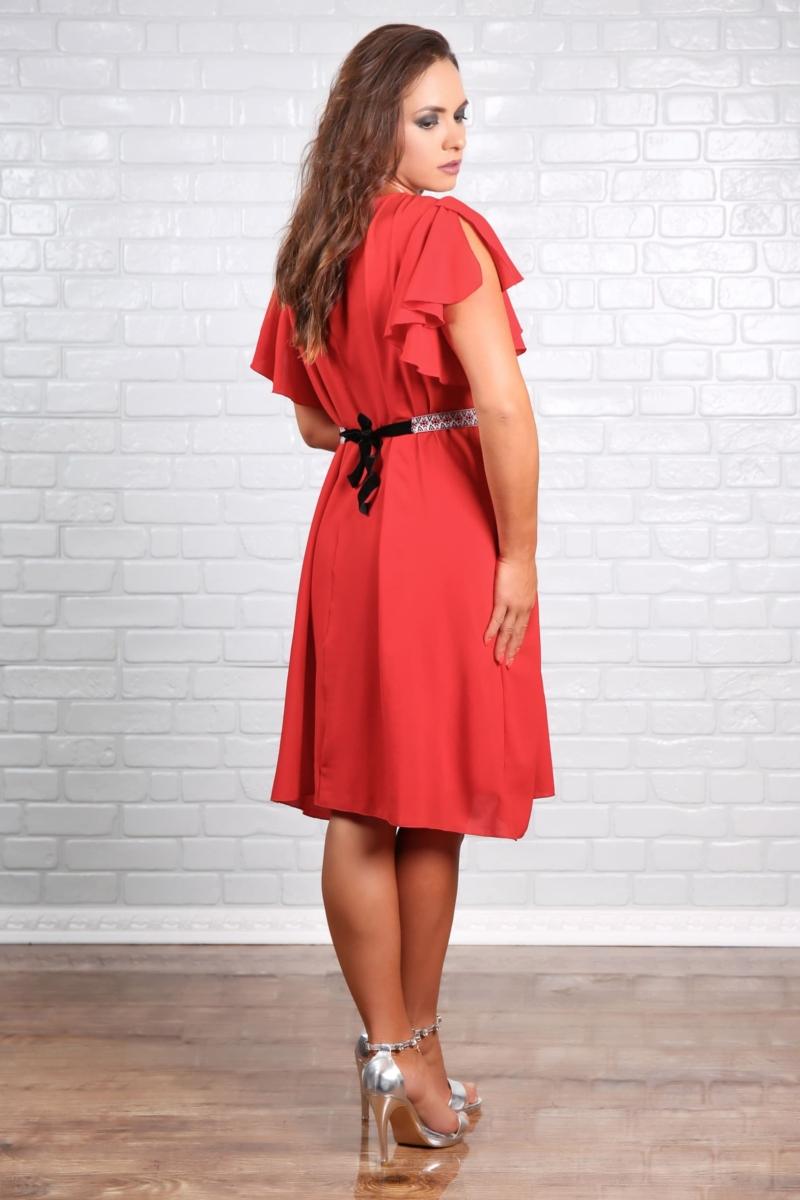 Rochie Dama En-gros Eleganta din Voal Valeris Red