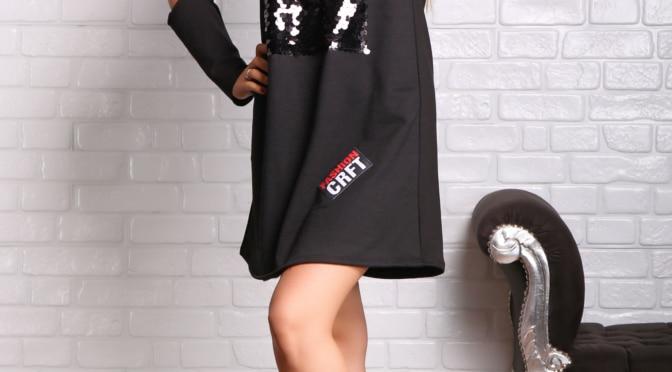 Haine en gros producator imbracaminte dama rochie sport cu paiete