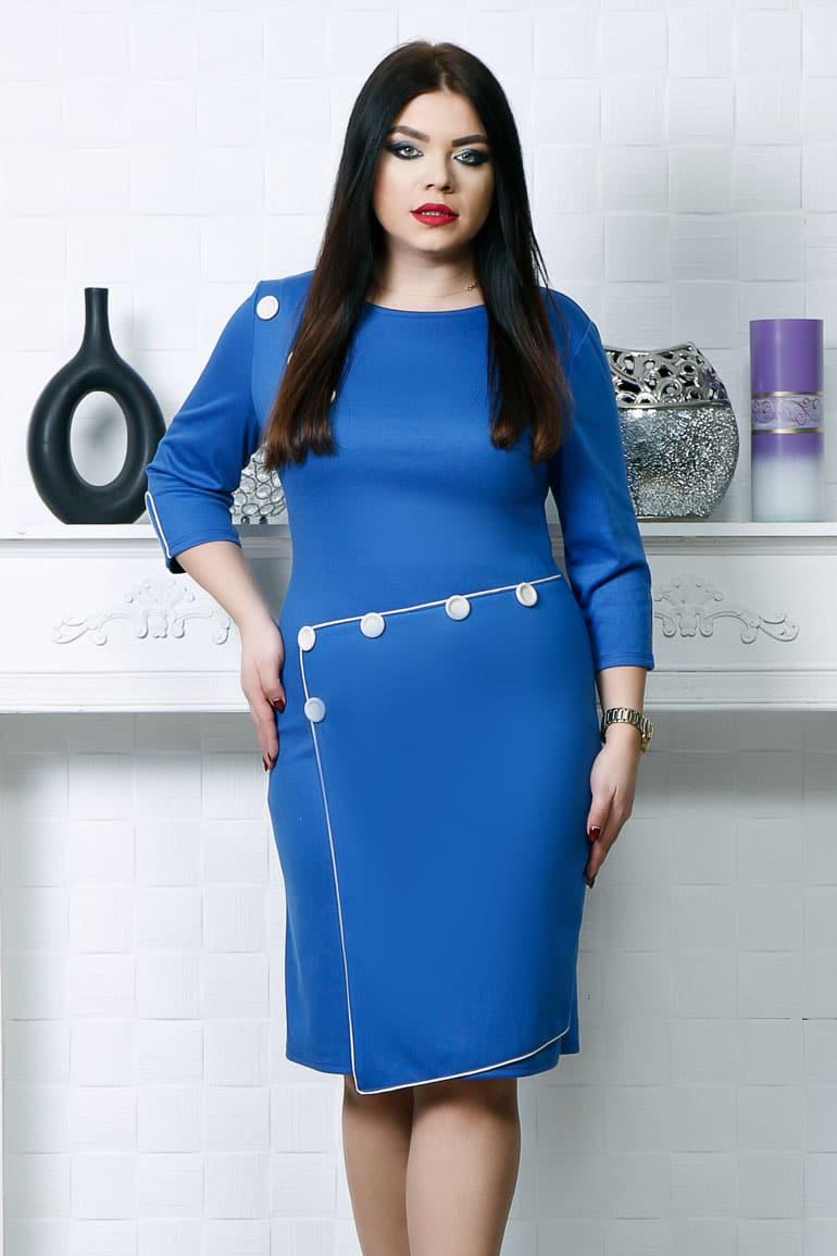 Rochie cu nasturi aplicati albastru en gros