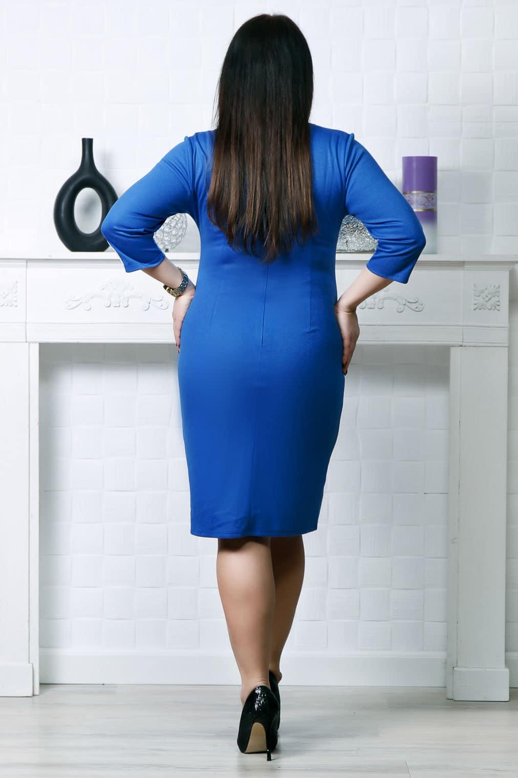 Rochie cu nasturi aplicati albastru